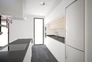 Casa de diseño. Arca 3 dormitorios. Cocina