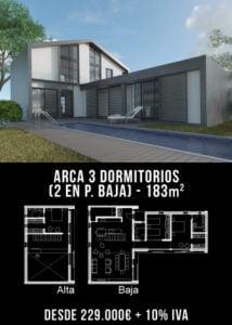 Casa de diseño. Arca 3 dormitorios. Atlántida Homes