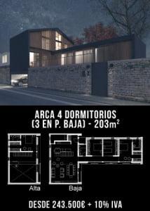 Casa moderna. Arca 4 dormitorios. Atlántida Homes