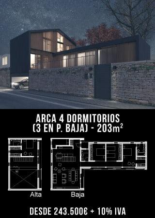 ARCA 4 DORMITORIOS (3 en Pl. Baja)