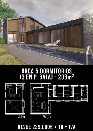 Casa de diseño. Arca 5 dormitorios. Atlántida Homes