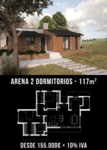 Casas unifamiliares. Arena 2 dormitorios. Atlántida Homes