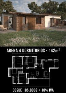 Casa de diseño. Arena 4 dormitorios. Atlántida Homes