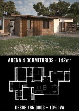 Casas unifamiliares. Arena 4 dormitorios. Atántida Homes