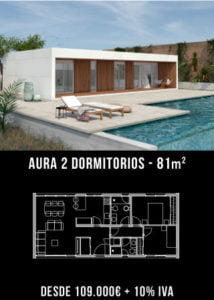 Casa Aura 2 dormitorios. Precio cerrado