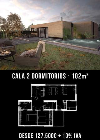 Casas de diseño. Cala 2 dormitorios. Atlántida Homes