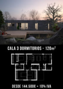 Casas modernas. Cala 3 dormitorios. Atántida Homes