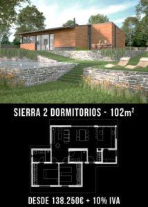 Casa prefabricada Sierra 2 dormitorios. Atlántida Homes