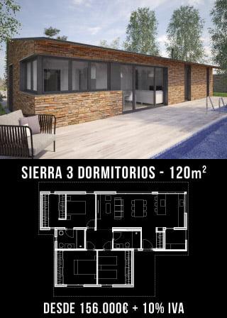 Casas de diseño. Sierra 3 dormitorios. Atlántida Homes