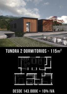 Casas prefabricada Tundra 2 dormitorios. Atlántida Homes