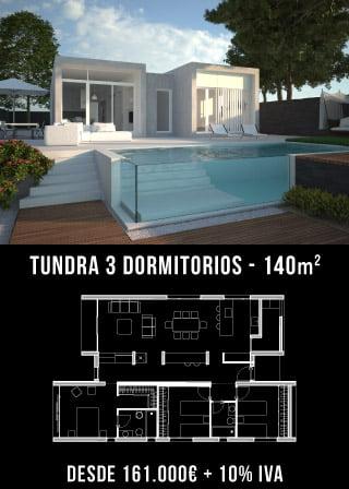 Casa de diseño. Tundra 3 dormitorios. Atlántida Homes