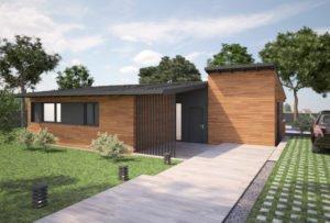 Casa de diseño. Sierra 2 dormitorios. Exterior