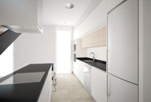 Casa de diseño. Arca 4 dormitorios. Cocina