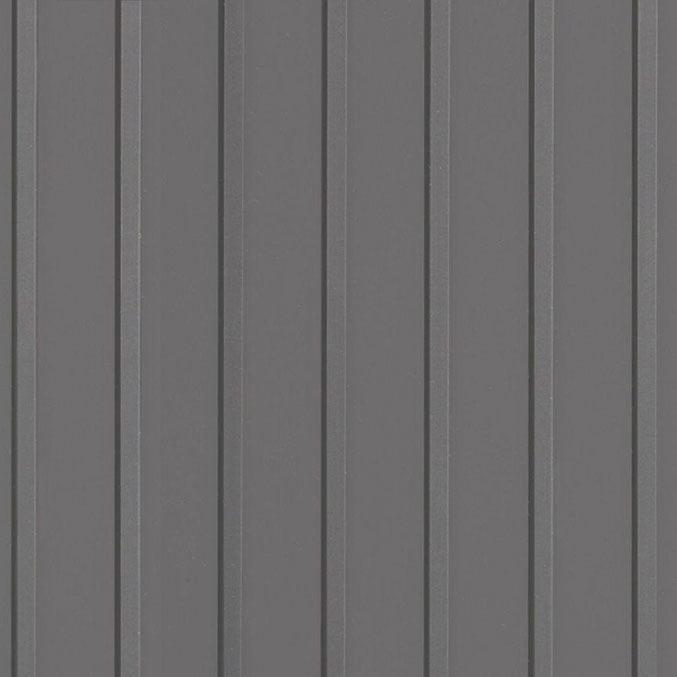 Cubierta de chapa perfilada con alero de acero lacado