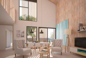 Casas de diseño. Arca 4 dormitorios, 3 en baja. Salón comedor