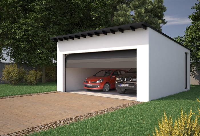 Garaje con cubierta inclinada atl ntida homes for Plaza de garaje huelva