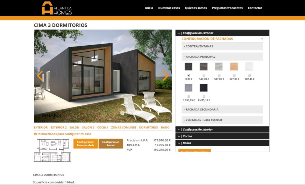 Diseña tu casa con Atlántida Homes