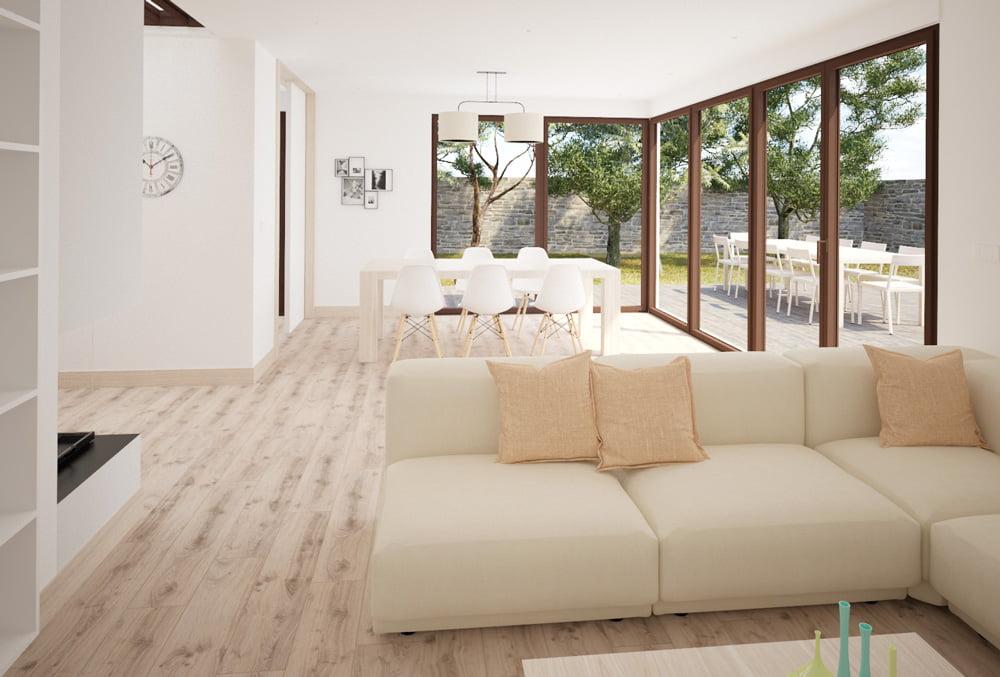 salon casa modular Arena de Atlántida Homes