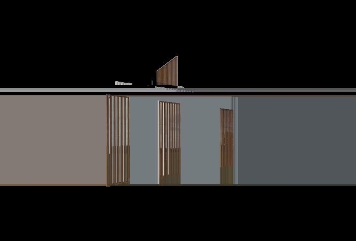 Contraventanas de lamas de sección cuadrada de MADERA tratada con lasur