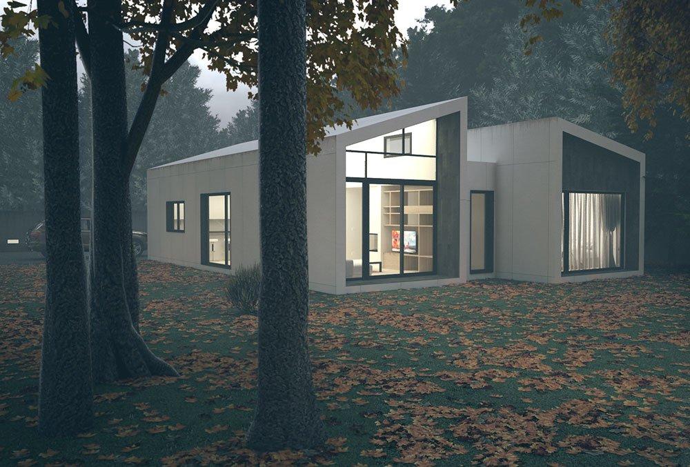 Casa prefabricada Cima 3 dormitorios. Atlántida Homes
