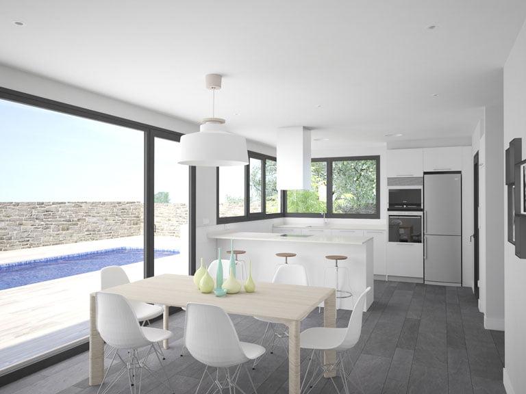 Cocina casa prefabricada Cala de Atlántida Homes