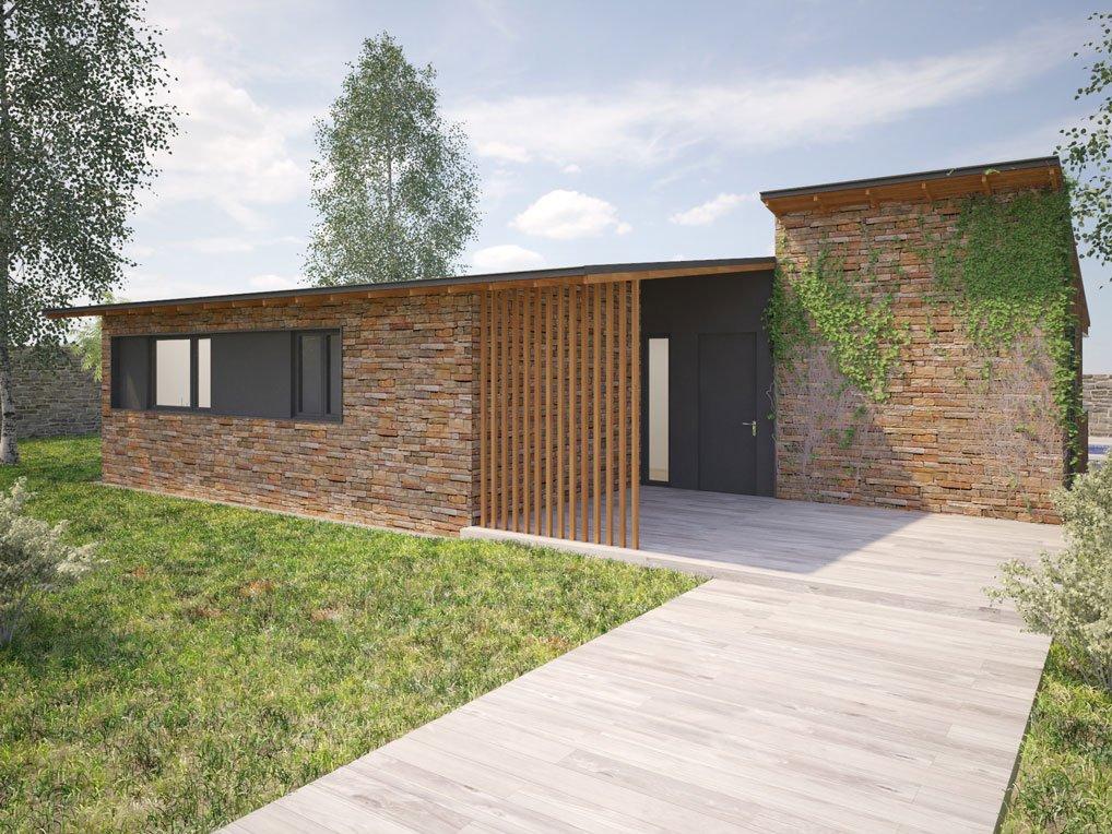 Casa prefabricada rustica Sierra 3 dormitorios. Atlántida Homes