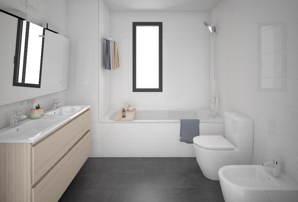 baño Casa prefabricada hormigón DUNA. Atlántida Homes