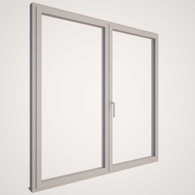Carpintería de aluminio con RPT y doble acristalamiento - KLINE - Gris Claro