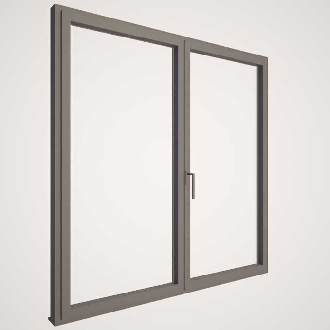 Carpintería de aluminio con RPT y doble acristalamiento - KLINE - Gris