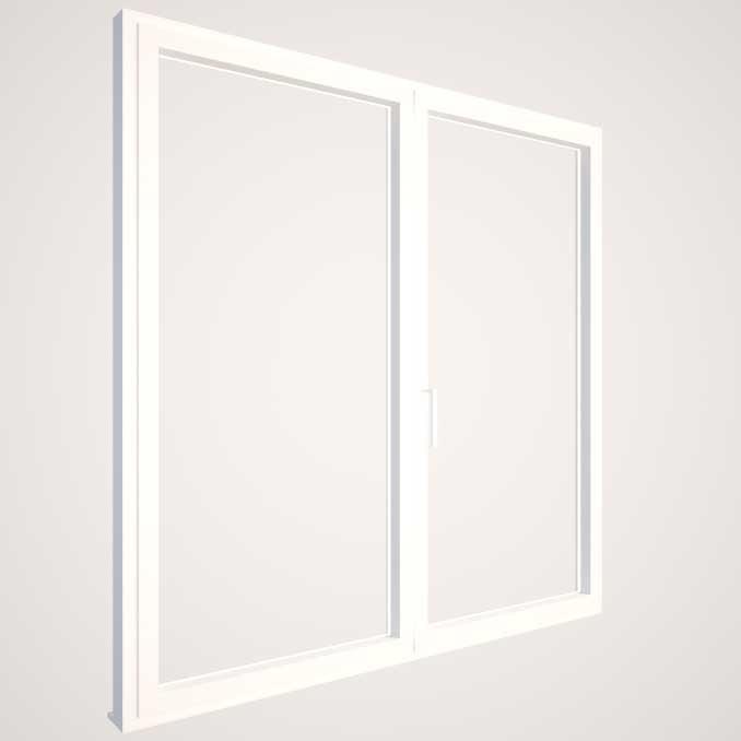 Carpintería de aluminio con RPT y doble acristalamiento - KLINE - Blanco