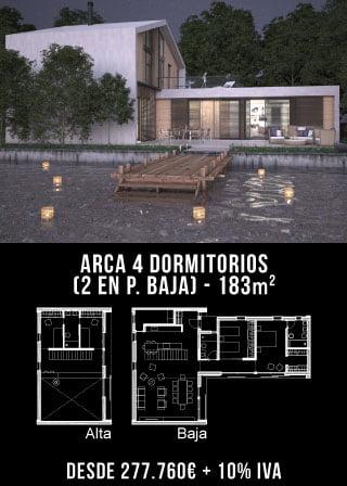ARCA 4 DORMITORIOS (2 en Pl. Baja)