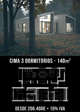 Casas de diseño. Cima 3 dormitorios. Atlántida Homes