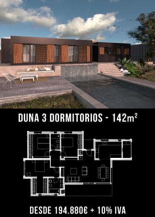 Construir una casa. Duna 3 dormitorios. Atlántida Homes