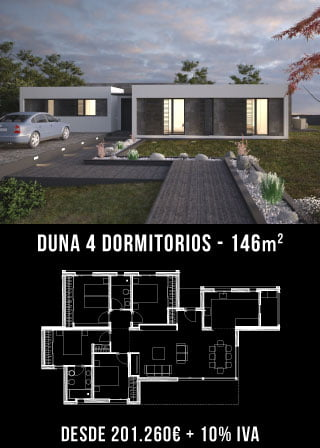 Casa de diseño. Duna 4 dormitorios. Atlántida Homes