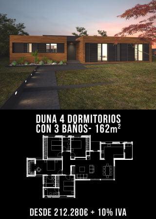 Casa de lujo. Duna 4 dormitorios y 3 baños