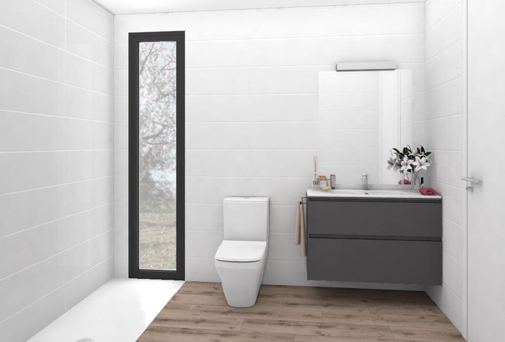 Baño Casa prefabricada Sierra. Atlántida Homes