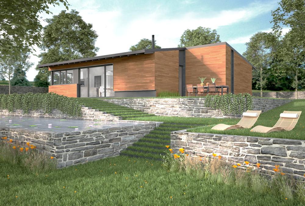 Casa prefabricada Sierra 2 habitaciones. Atlántida Homes