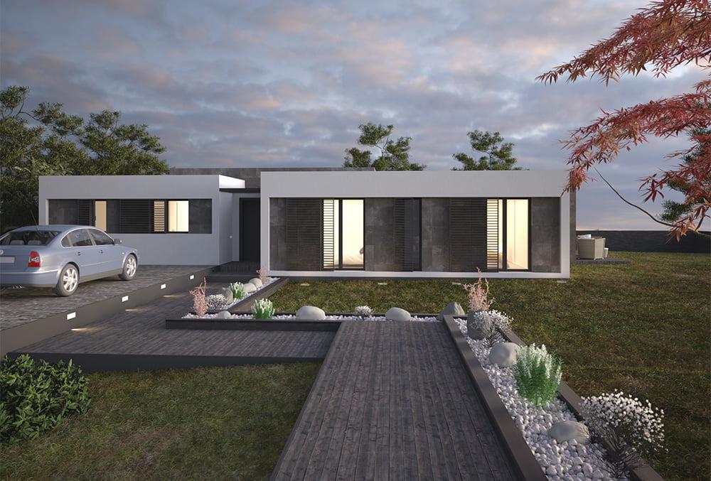 imagen casa prefabricada Duna 4 dormitorios. Atlántida Homes