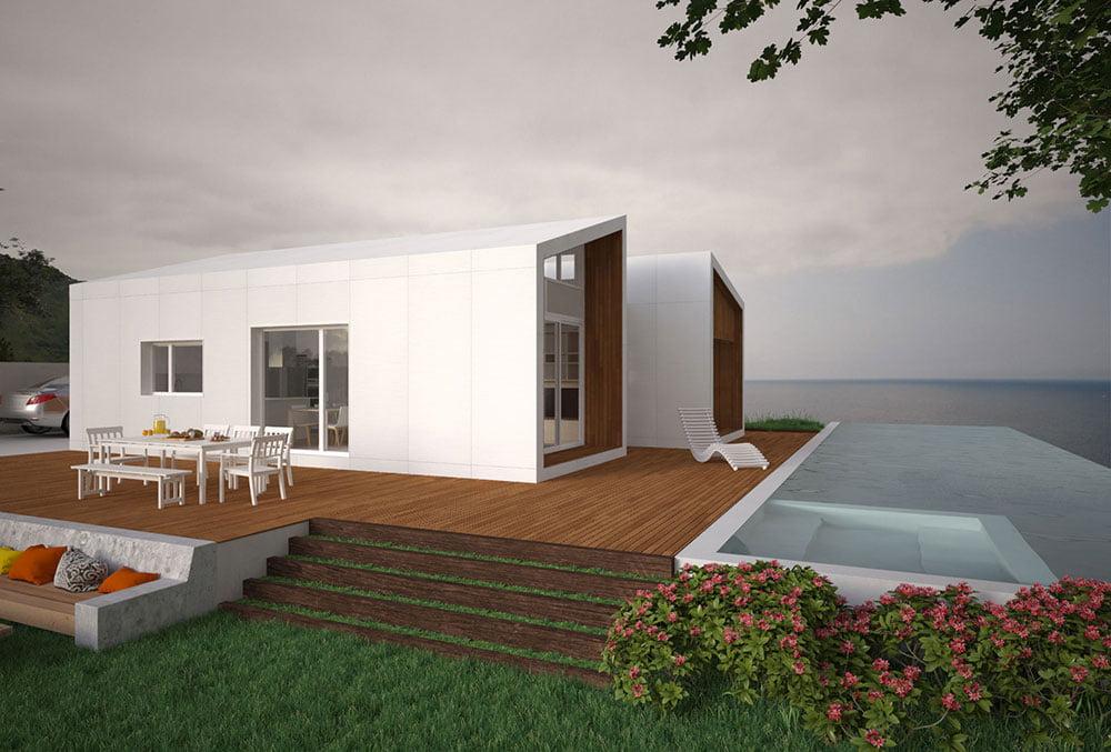exterior Casa prefabricada Cima. Atlántida Homes