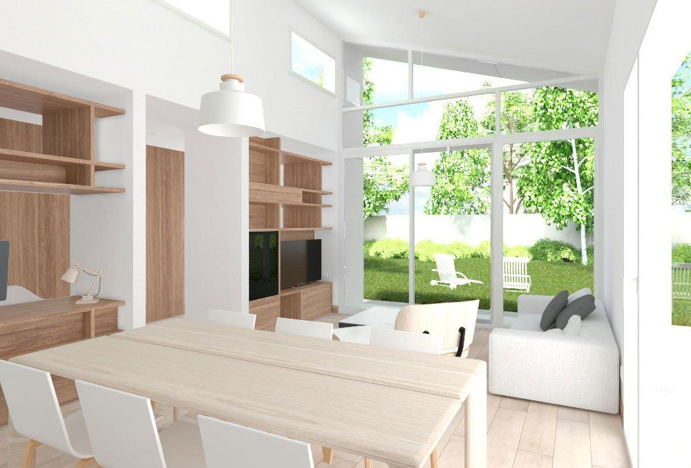 interior Casa prefabricada Cima 2 habitaciones. Atlántida Homes