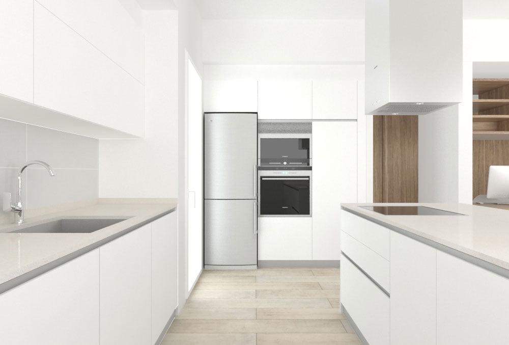 Cocina casa modular Cima. Atlántida Homes