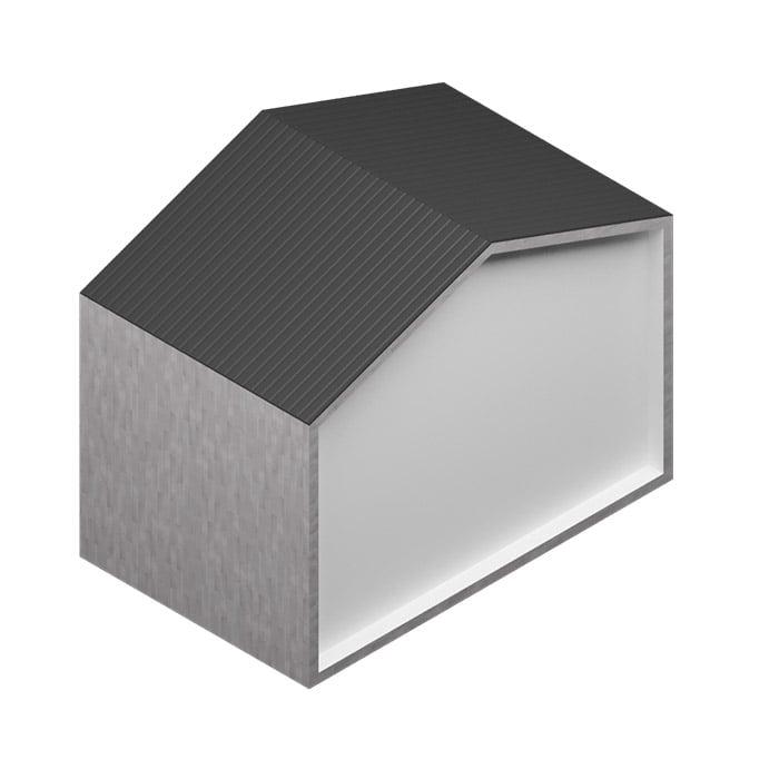 Revestimiento PORCELÁNICO Rectificado - Abstract Gris 20x120cm - Saloni con cubierta de chapa perfilada