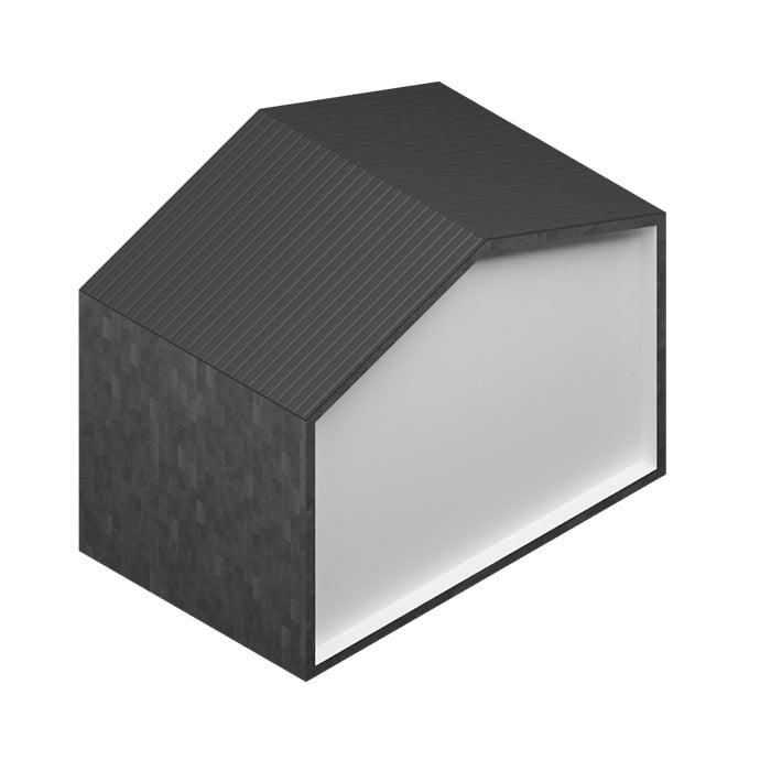 Revestimiento de PIEDRA NATURAL -  Pizarra negro ébano 60x30cm - JBernardos con cubierta de chapa perfilada
