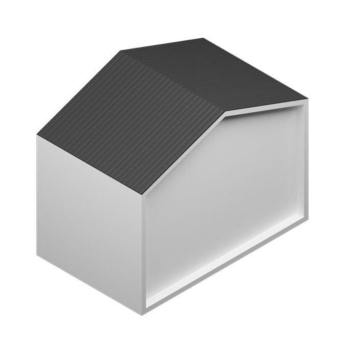 Revestimiento de mortero MONOCAPA Blanco con cubierta de chapa perfilada