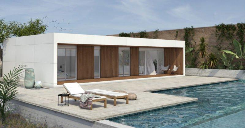 diseño de casa prefabricada minimalista
