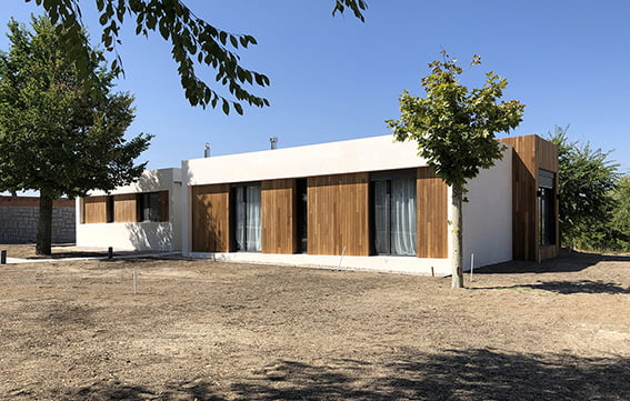 Casas prefabricadas con hormigón.