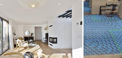 Suelo radiante para viviendas modulares eficientes