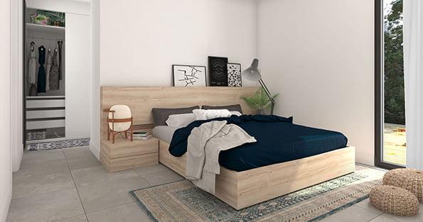 dormitorio casa prefabricada CALA