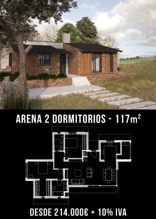 Casas unifamiliares. Arena . Nuestras casas prefabricadas