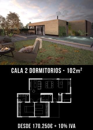 Nuestras Casas prefabricadas. Cala 2 dormitorios. Atlántida Homes